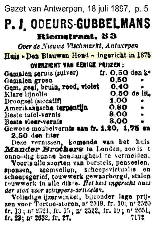 Advertentie 1897